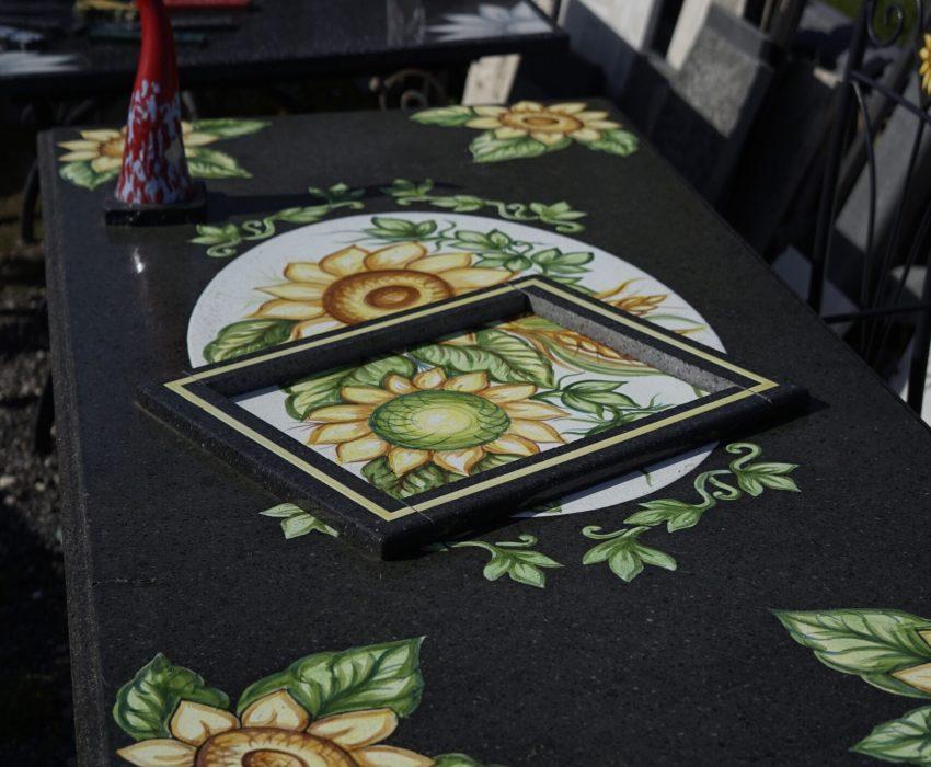 Tavolo Rettangolare di Pietra Lavica Smaltata Varie Misure